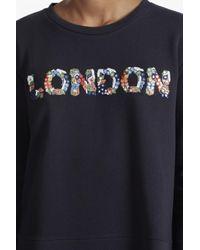 French Connection - Blue Toyen London Embellished Sweatshirt - Lyst