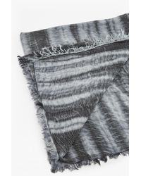 French Connection - Gray Monochrome Tie Dye Scarf - Lyst