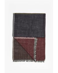 French Connection | Multicolor Elva Colour Block Wool Scarf | Lyst