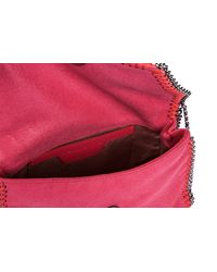 Stella McCartney - Pink Shoulder Bag Falabella Mini Shaggy Deer - Lyst