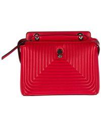 Fendi - Red Leather Shoulder Bag Dotcom Nappa Shiny - Lyst