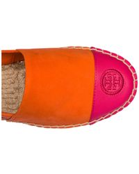Tory Burch - Orange Suede Espadrilles Slip On Shoes - Lyst