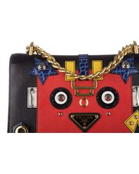 Prada - Multicolor Leather Cross-body Messenger Shoulder Bag Glace Robot - Lyst