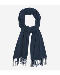 Sandro - Blue Echarpe en laine et cachemire for Men - Lyst