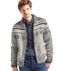 Gap | Multicolor Fair Isle Shawl Sweater for Men | Lyst
