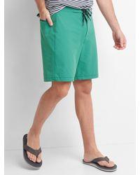 "Gap - Green Solid Board Shorts (9.5"") for Men - Lyst"