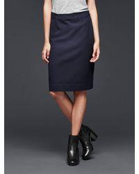 Gap | Blue Tailored Pencil Skirt | Lyst
