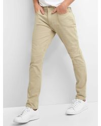 Gap   Natural Broken Twill Skinny Fit Jeans for Men   Lyst