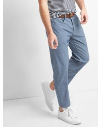 Gap - Blue Chambray Wader Jeans (stretch) - Lyst
