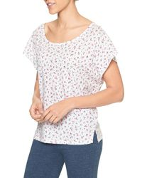 GAP Factory - White Print T-shirt In Jersey - Lyst