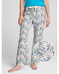 GAP Factory - Blue Print Pants In Poplin - Lyst
