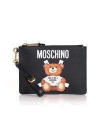 Moschino - Bear Small Clutch Black - Lyst
