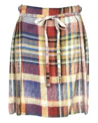 Vivienne Westwood Anglomania - Blue Faded Tartan Hope Kilt Navy - Lyst