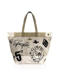 Vivienne Westwood | Dhow Sail Shopper White/cream | Lyst