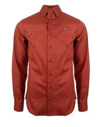 Vivienne Westwood | Classic Stretch Three Button Krall Shirt Red for Men | Lyst