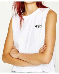 RVCA - Feelin' Muscle Tank White - Lyst