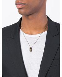 Saint Laurent - Multicolor Razor Blade Necklace for Men - Lyst