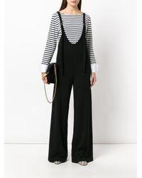 Chloé - Black Salopette Style Jumpsuit - Lyst