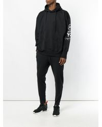 Y-3 - Black Tapered Tracksuit Bottoms for Men - Lyst