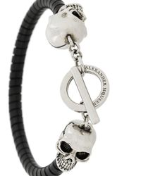 Alexander McQueen - Multicolor Skull Detail Bracelet for Men - Lyst