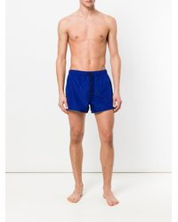 Versace - Blue Medusa Patch Swim Shorts for Men - Lyst
