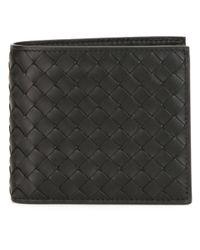 Bottega Veneta - Black - Woven Billfold Wallet - Men - Leather - One Size for Men - Lyst