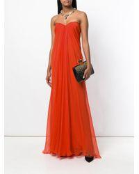 Alexander McQueen - Multicolor Draped Bustier Evening Dress - Lyst