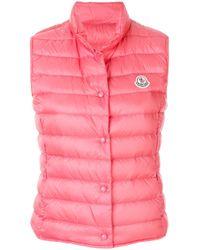 16c606b64 Lyst - Moncler Liane Padded Gilet in Pink