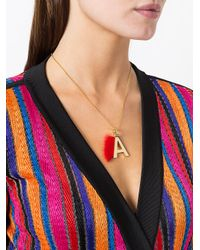 Fendi - Multicolor Abclick Fur-trimmed Charm - Lyst