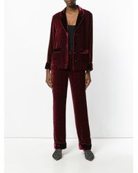 For Restless Sleepers Multicolor Embossed Velvet Style Blazer