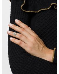 Yvonne Léon - Metallic Embellished Ring - Lyst