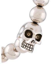 Alexander McQueen - Multicolor Beaded Skull Bracelet for Men - Lyst
