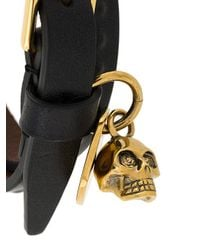 Alexander McQueen - Multicolor Skull Leather Bracelet for Men - Lyst