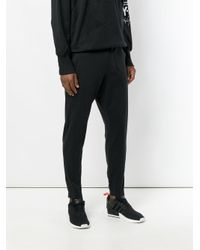Y-3 - Black Tapered Tracksuit Bottoms for Men - Lyst