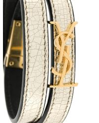 Saint Laurent | Metallic Leather Bracelet | Lyst