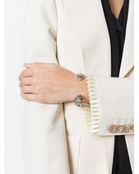 Gucci - Metallic Crystal-embellished Silver Bracelet - Lyst