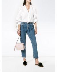 0d3d74b2ec1a Dolce   Gabbana Glam Leather Crossbody Bag in Pink - Lyst