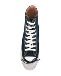 Marco De Vincenzo - Blue Lace-up Crystal Pump Boots - Lyst