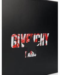 Givenchy - Black Star Logo Print Pouch for Men - Lyst