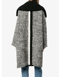 Chloé - Multicolor Blend Wool Montgomery - Lyst