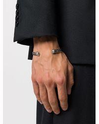 Alexander McQueen - Multicolor Engraved Twin Skull Bracelet for Men - Lyst