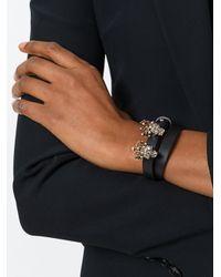 Alexander McQueen - Black Queen And King Skull Bracelet - Lyst