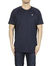 K-Way - Blue K-WAY T-shirt basic blu for Men - Lyst