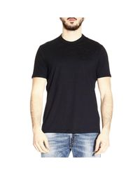 Emporio Armani | Black T-shirt Men for Men | Lyst