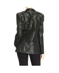 Gucci - Green Floral-Jacquard Suit Jacket - Lyst