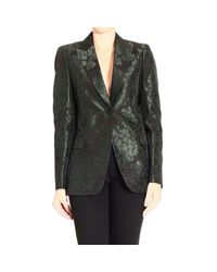 Gucci | Green Floral-Jacquard Suit Jacket | Lyst