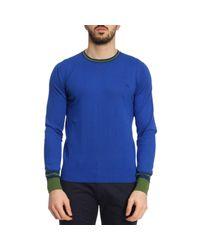 Etro - Blue Sweater Men for Men - Lyst