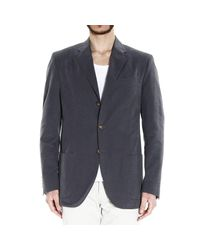 Polo Ralph Lauren | Gray Blazer 3b Drawn Fabric 2 Pockets Gabardine Patchwork for Men | Lyst