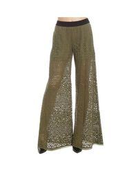 Pinko | Green Women's Trouser | Lyst