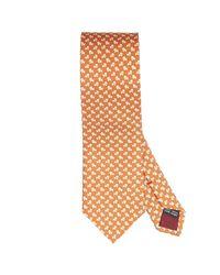 Ferragamo - Orange Tie Silk 8 Cm for Men - Lyst